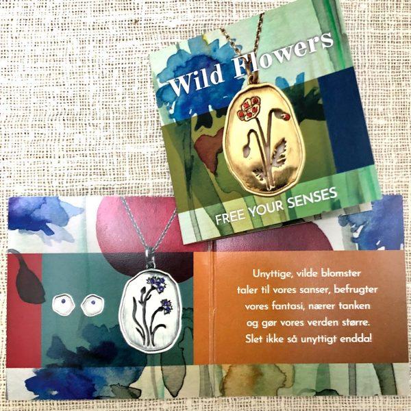 folder om Wild Flowers smykker, design Lene Kjølner