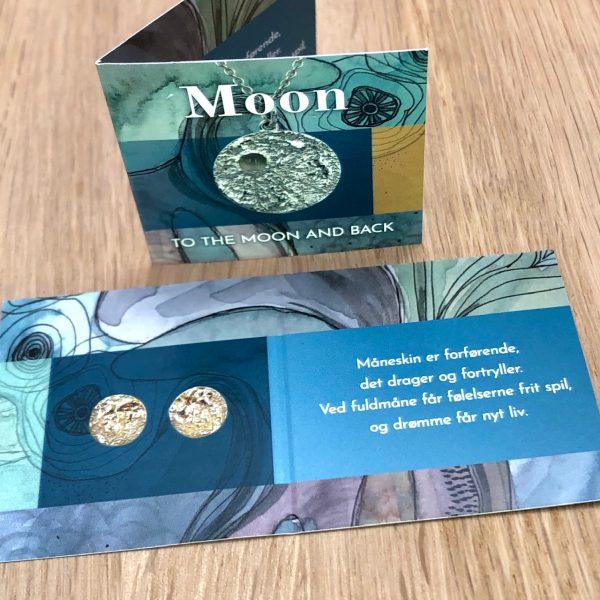 folder til Moon smykke-serien, poetisk og symbolsk tekst, design Lene Kjølner