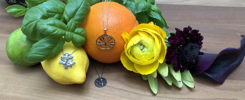 smykker på frugt og grønt