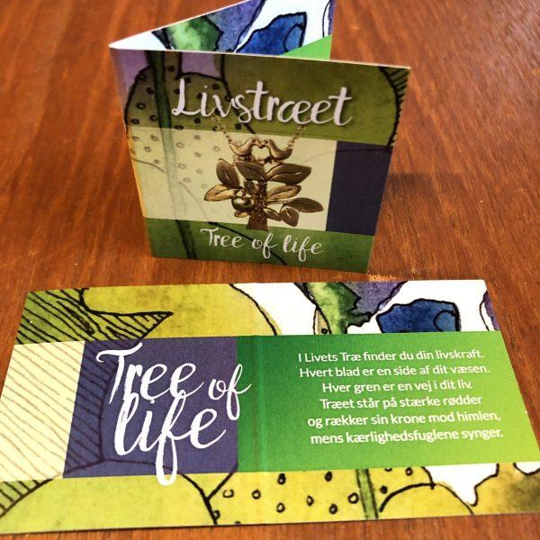 folder med symbolsk tekst om Livstræet