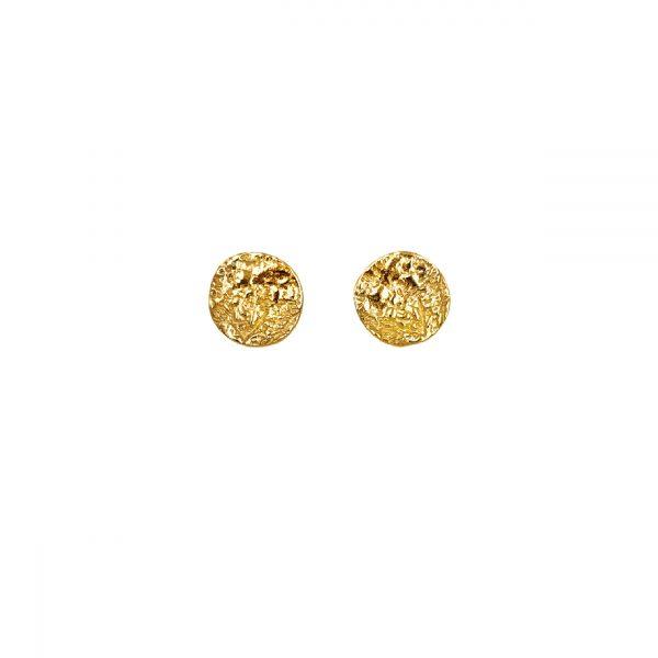 Moon ørestikker guld, to the moon and back. symbol for følelser og drømme, design Lene Kjølner