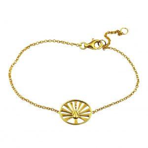 Peacock armbånd i forgyldt sølv, symboliserer at være unik og fantastisk