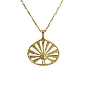 peacock vedhæng guld, til kæde, symboliserer det at være unik, stay amazing