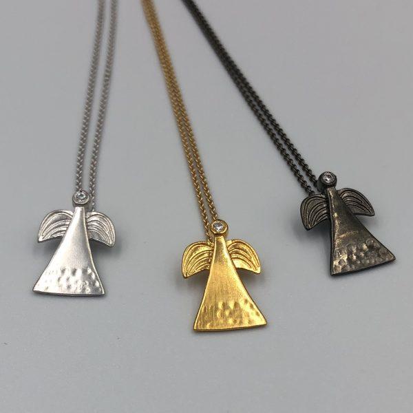 skytsengle smykker i 3 forskellige farver