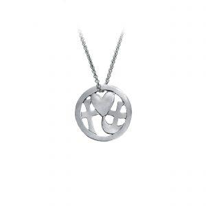 Tro-håb-kærlighed vedhæng i sølv, design Lene Kjølner, smykker med mening